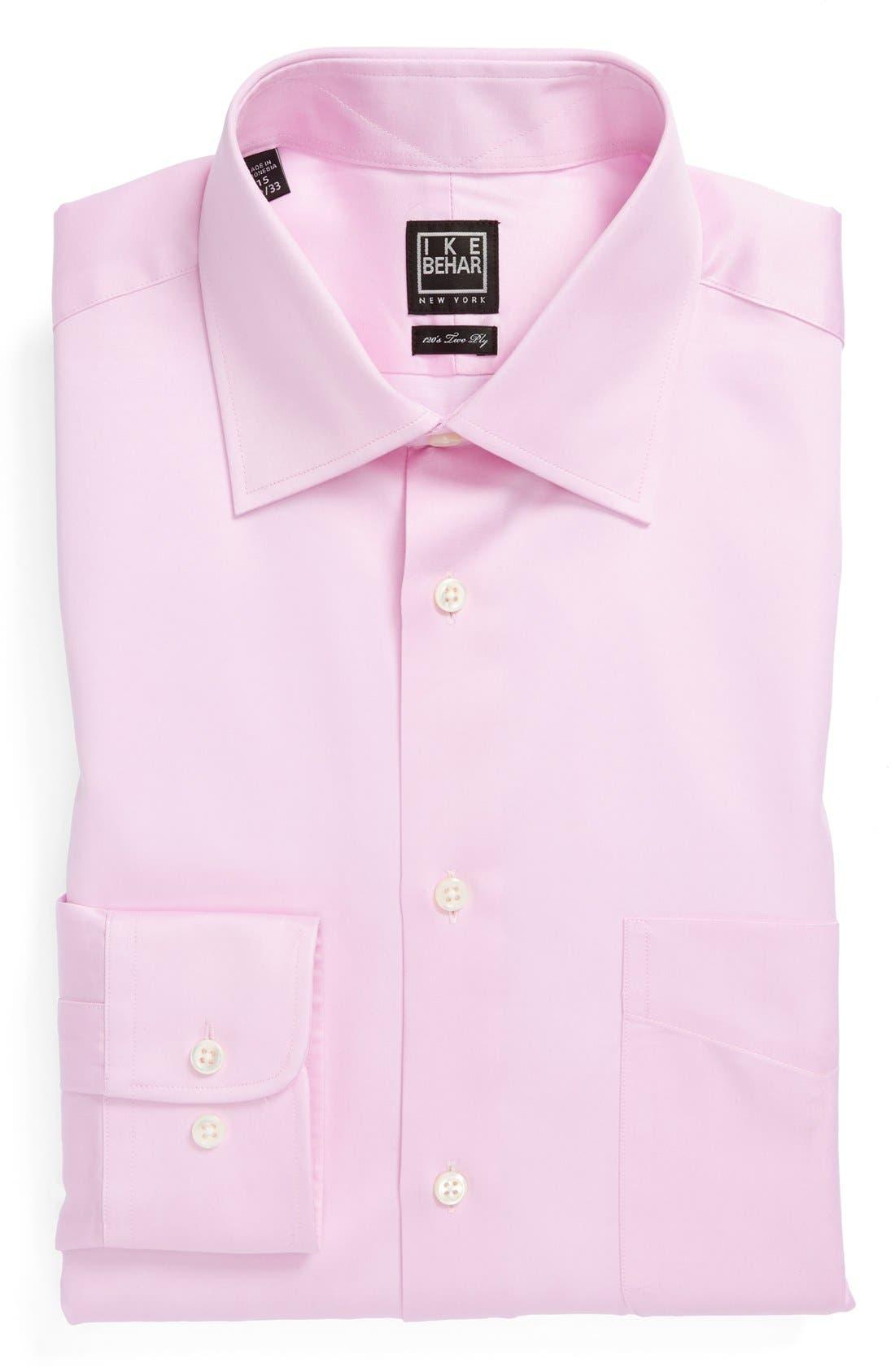 Main Image - Ike Behar Regular Fit Solid Dress Shirt (Online Only)