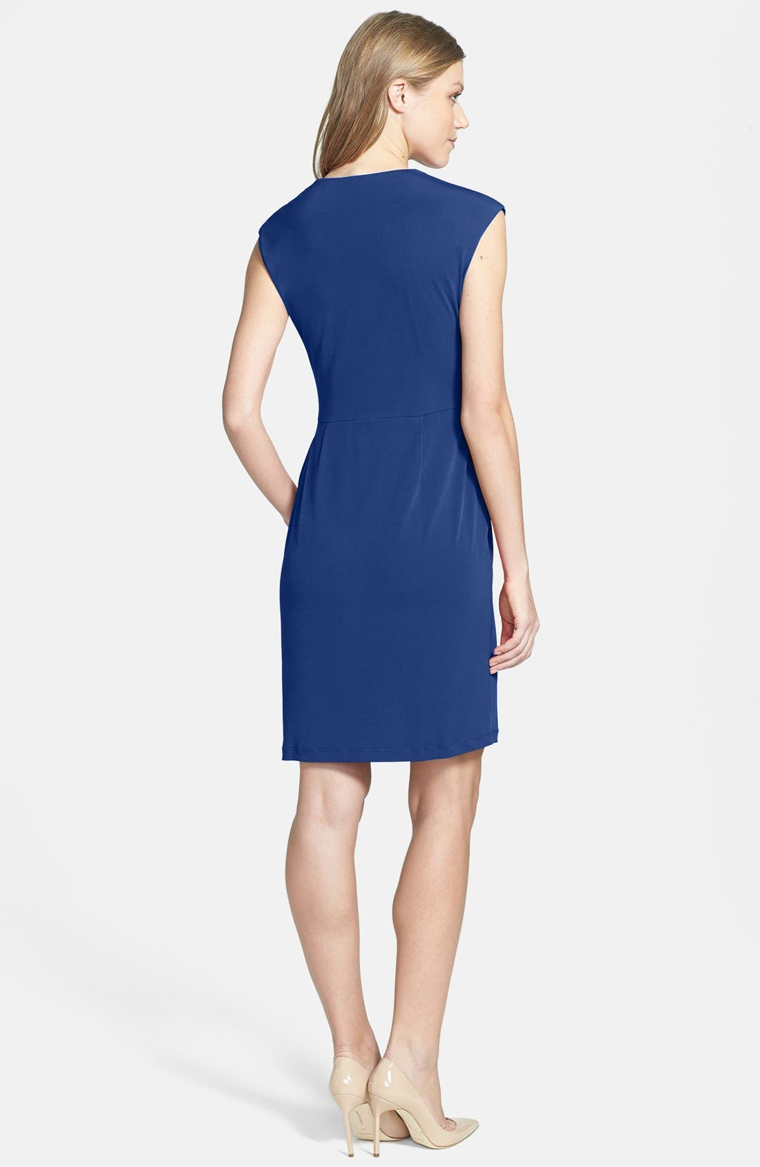 Alternate Image 2  - Donna Ricco Cowl Neck Matte Jersey Dress