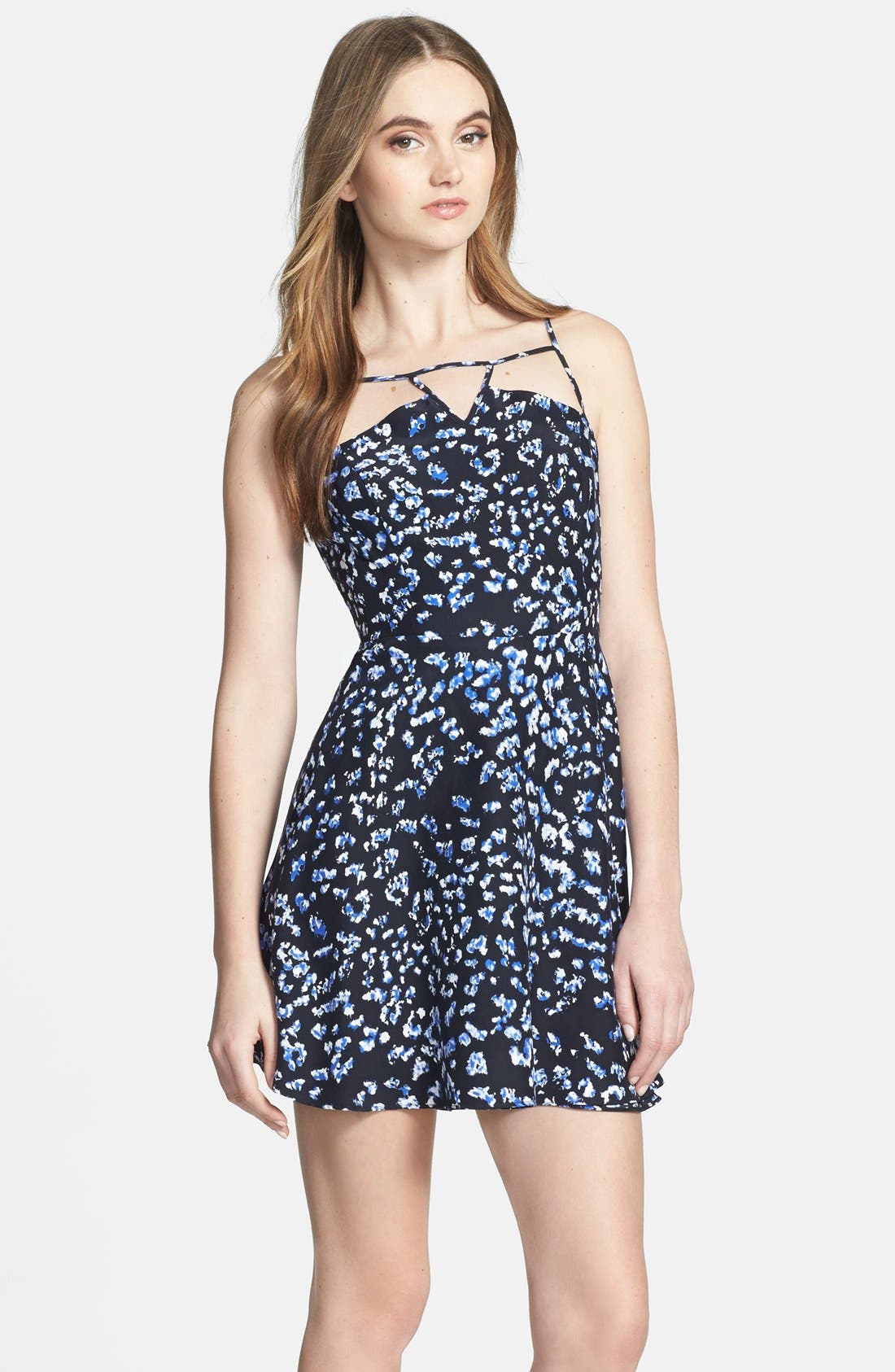Alternate Image 3  - Parker 'Jensen' Print Silk Fit & Flare Dress