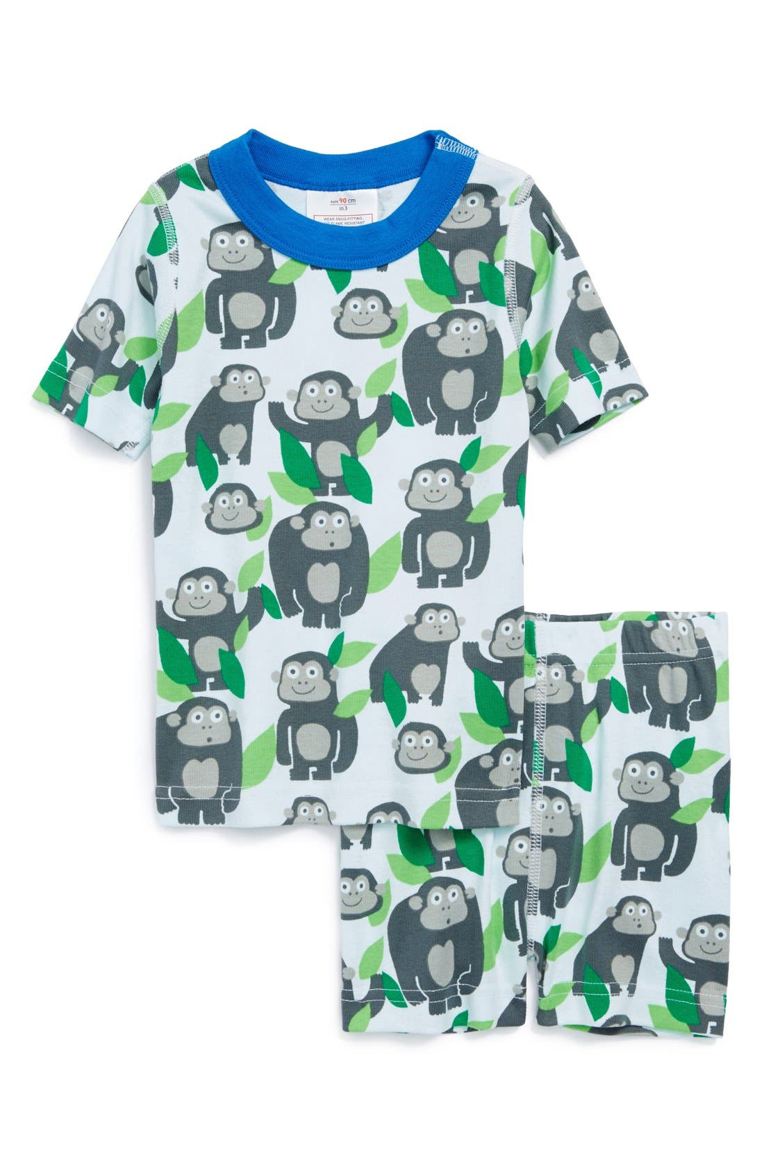 Alternate Image 1 Selected - Hanna Andersson Two Piece Short Fitted Pajamas (Toddler Boys, Little Boys & Big Boys)