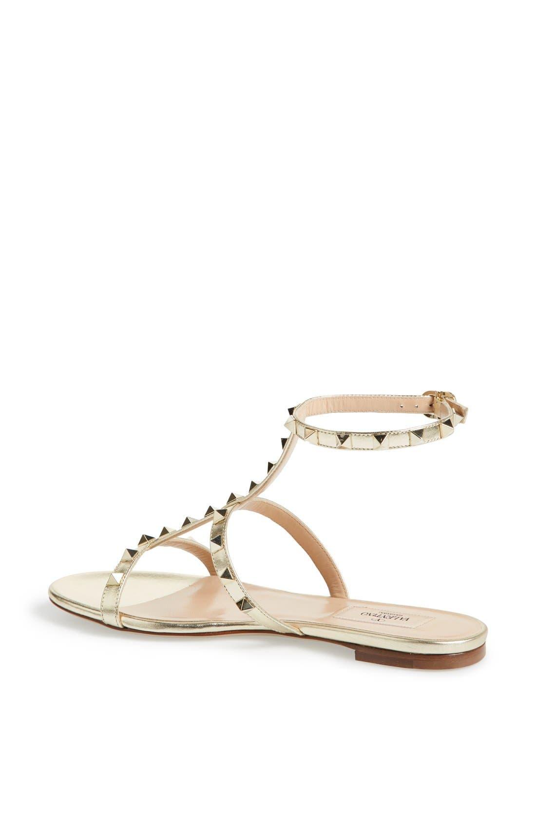 Alternate Image 2  - Valentino 'Rockstud' T-Strap Sandal