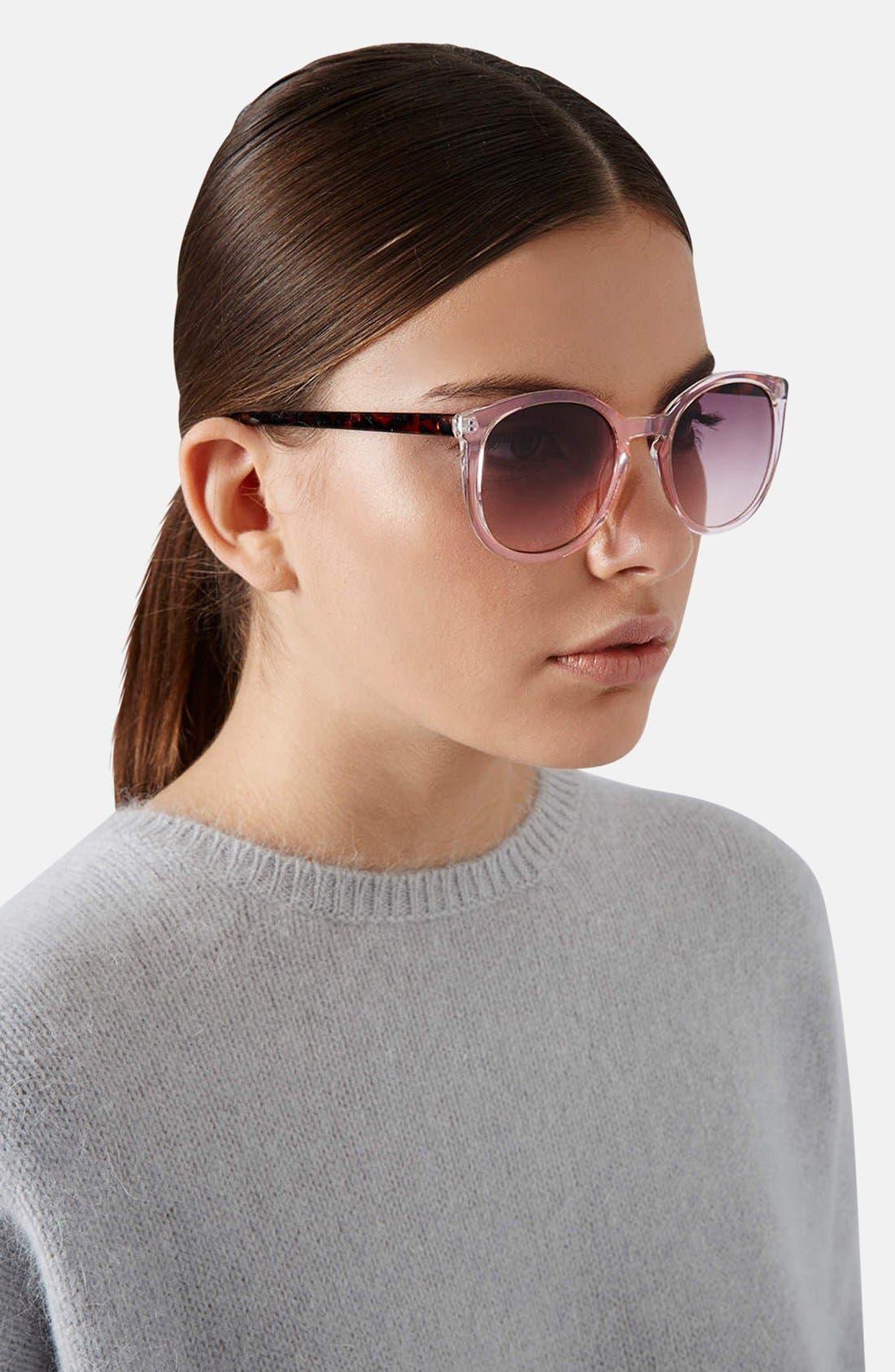 Alternate Image 2  - Topshop 50mm Round Sunglasses