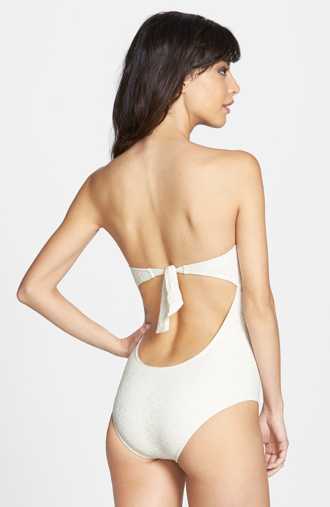 Alternate Image 2  - Eberjey 'El Mirage Mimi' Ruffle Trim Burnout One-Piece Swimsuit