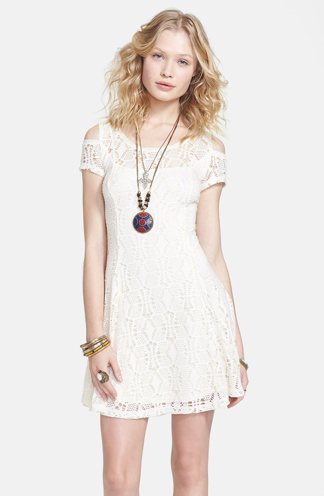 Alternate Image 1 Selected - Free People 'Kiss the Sun' Crochet Babydoll Dress