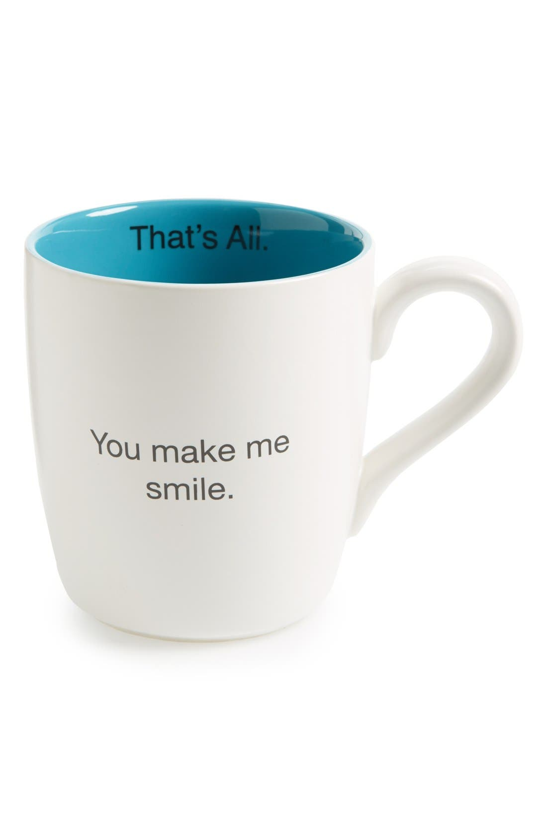 Alternate Image 1 Selected - Santa Barbara Design 'That's All - You Make Me Smile' Mug