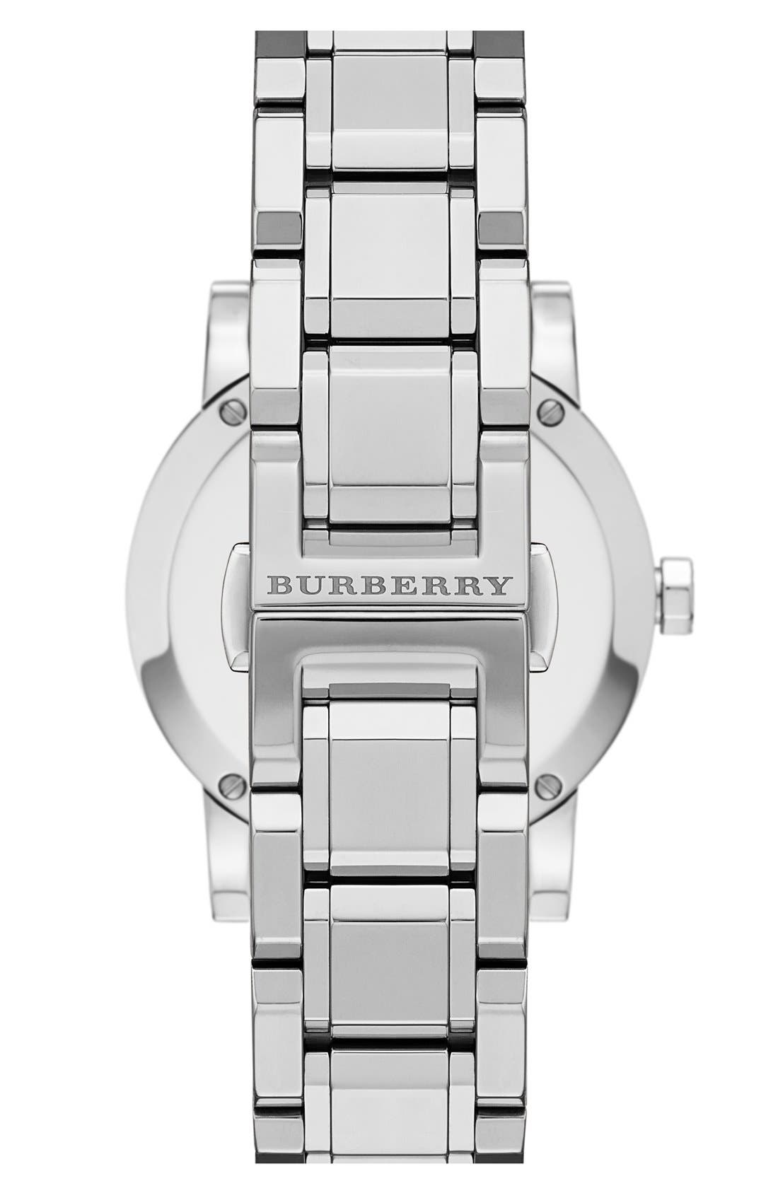 Alternate Image 2  - Burberry Check Stamped Bracelet Watch, 34mm