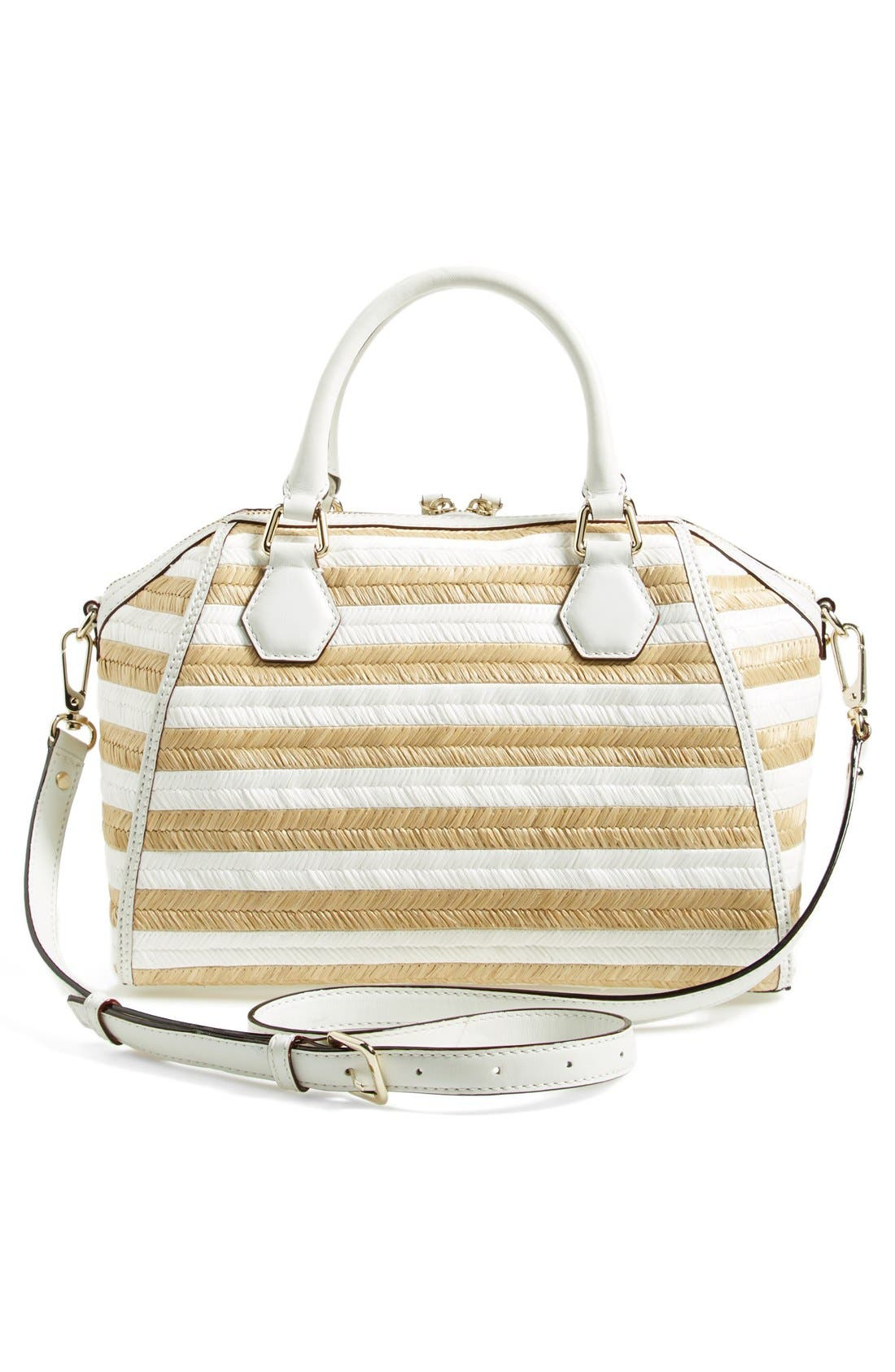 Alternate Image 4  - kate spade new york 'pippa' straw satchel