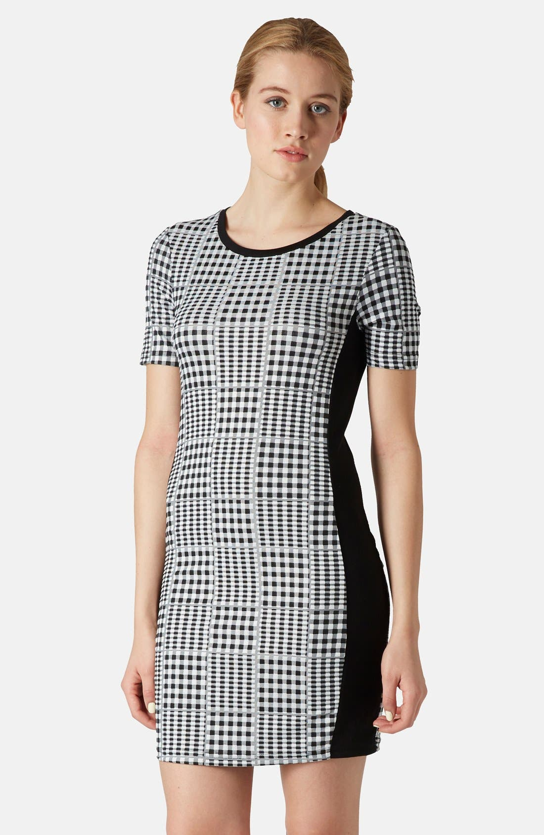 Main Image - Topshop Gingham Body-Con Dress