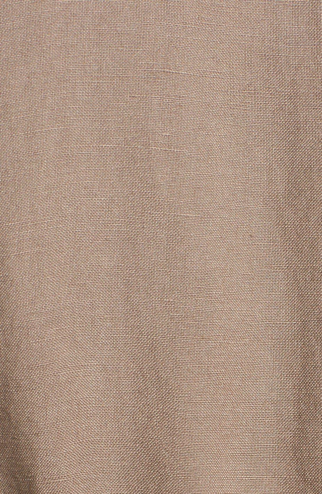 Alternate Image 3  - Caslon® Linen Blend Hooded Jacket