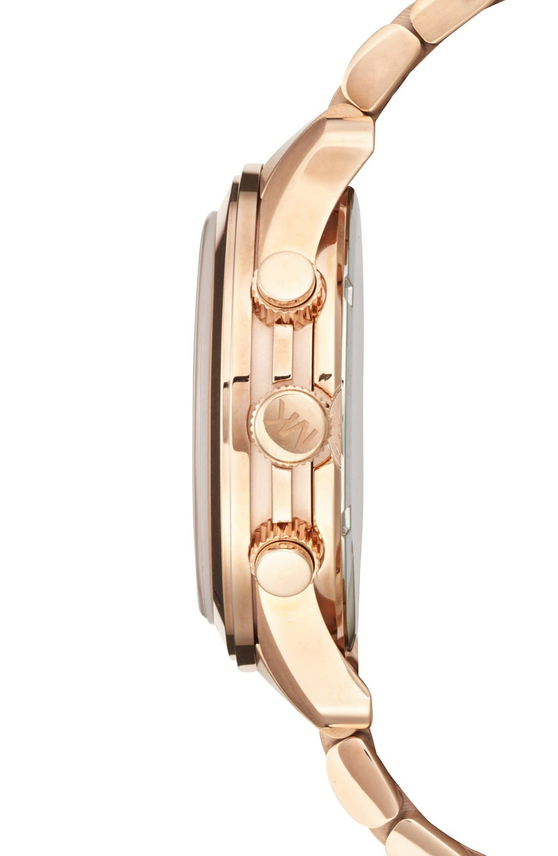 Alternate Image 3  - Michael Kors 'Large Runway' Rose Gold Plated Watch, 45mm