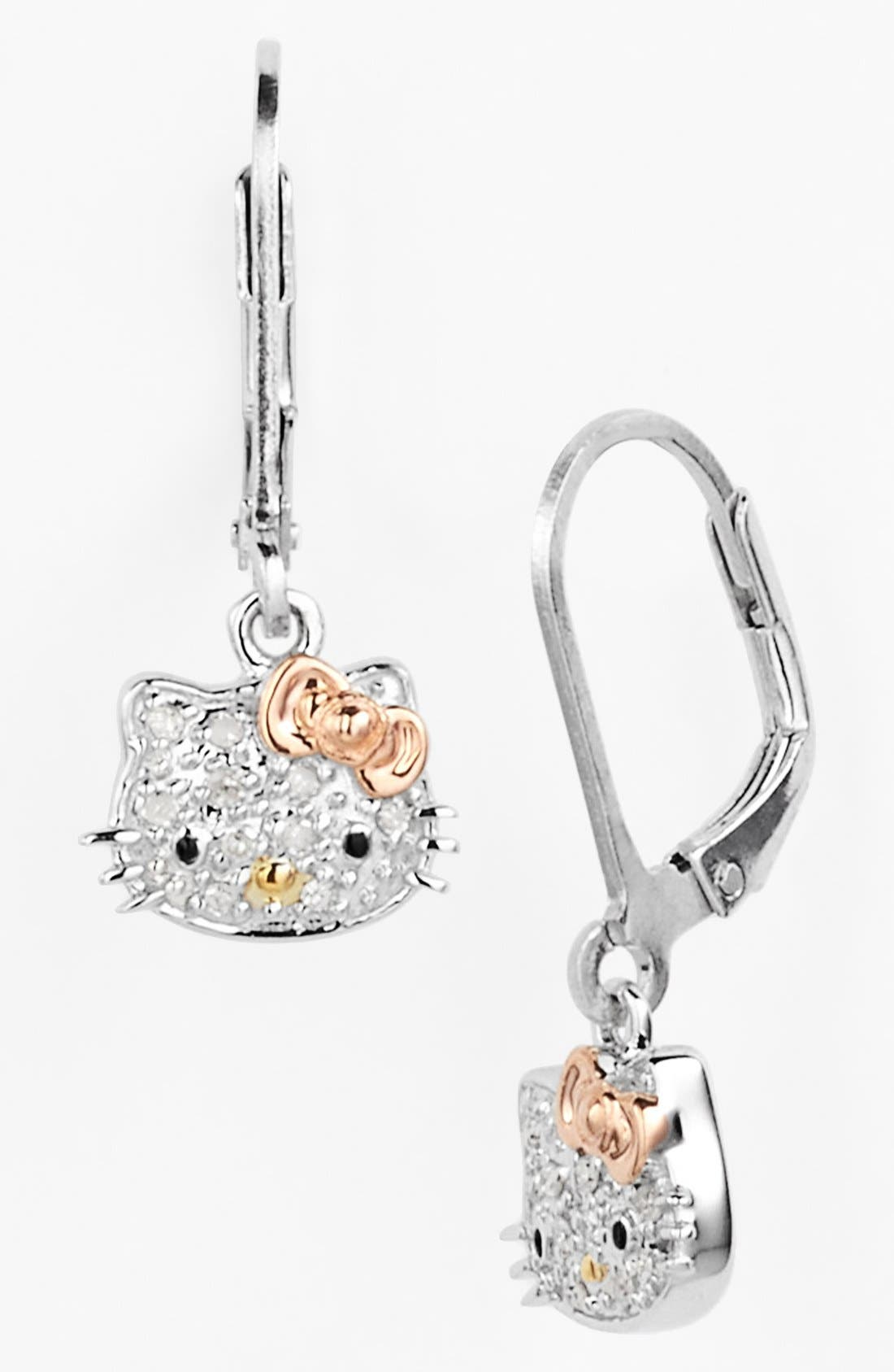 Alternate Image 1 Selected - Hello Kitty® Pavé Diamond Drop Earrings (Nordstrom Exclusive)