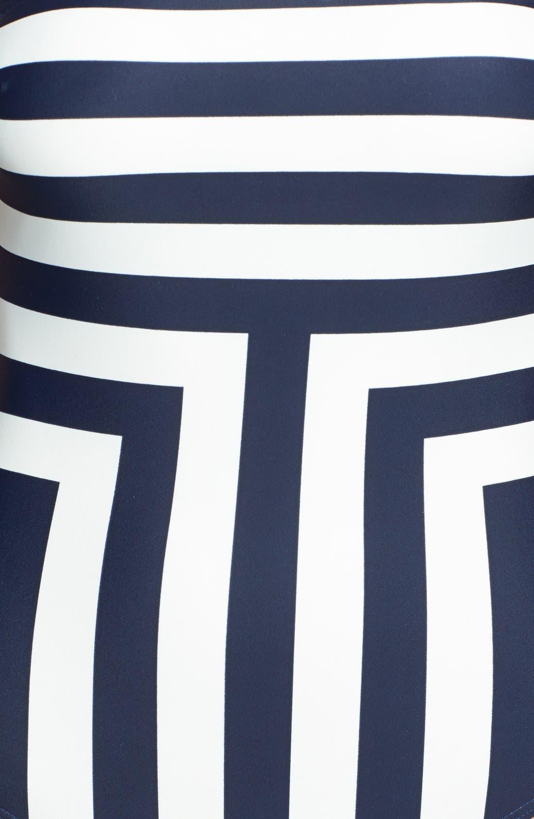 Alternate Image 3  - Ted Baker London 'Neevee New Stripe' Bandeau One-Piece Swimsuit