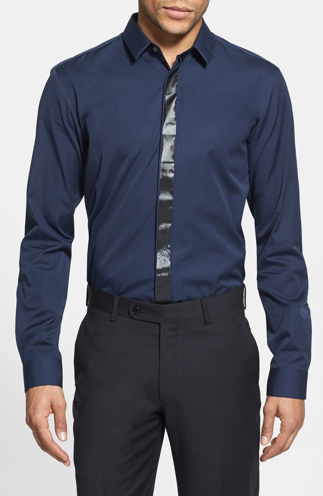 Alternate Image 1 Selected - HUGO 'Evis' Slim Fit Sport Shirt
