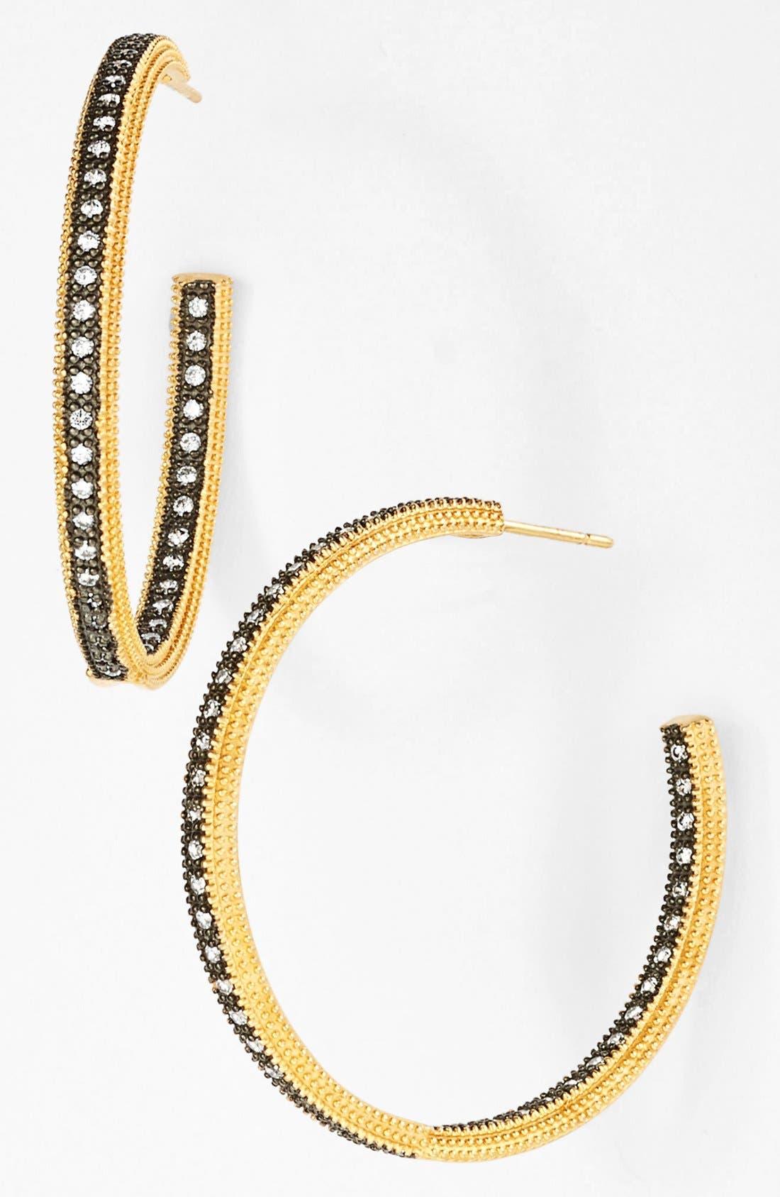 Alternate Image 1 Selected - FREIDA ROTHMAN 'The Standards' Inside Out Hoop Earrings