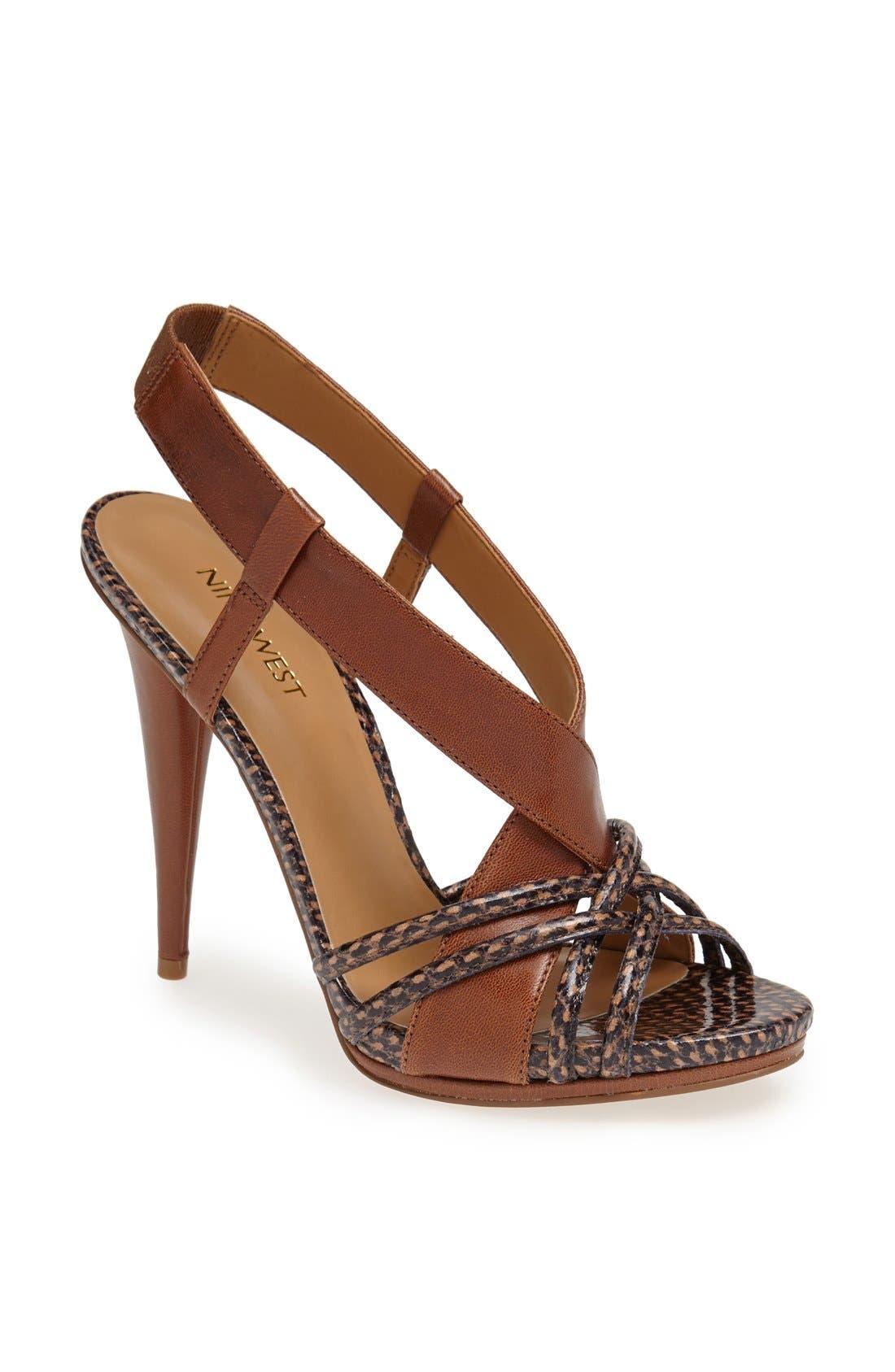 Alternate Image 1 Selected - Nine West 'Allysse' Leather Sandal