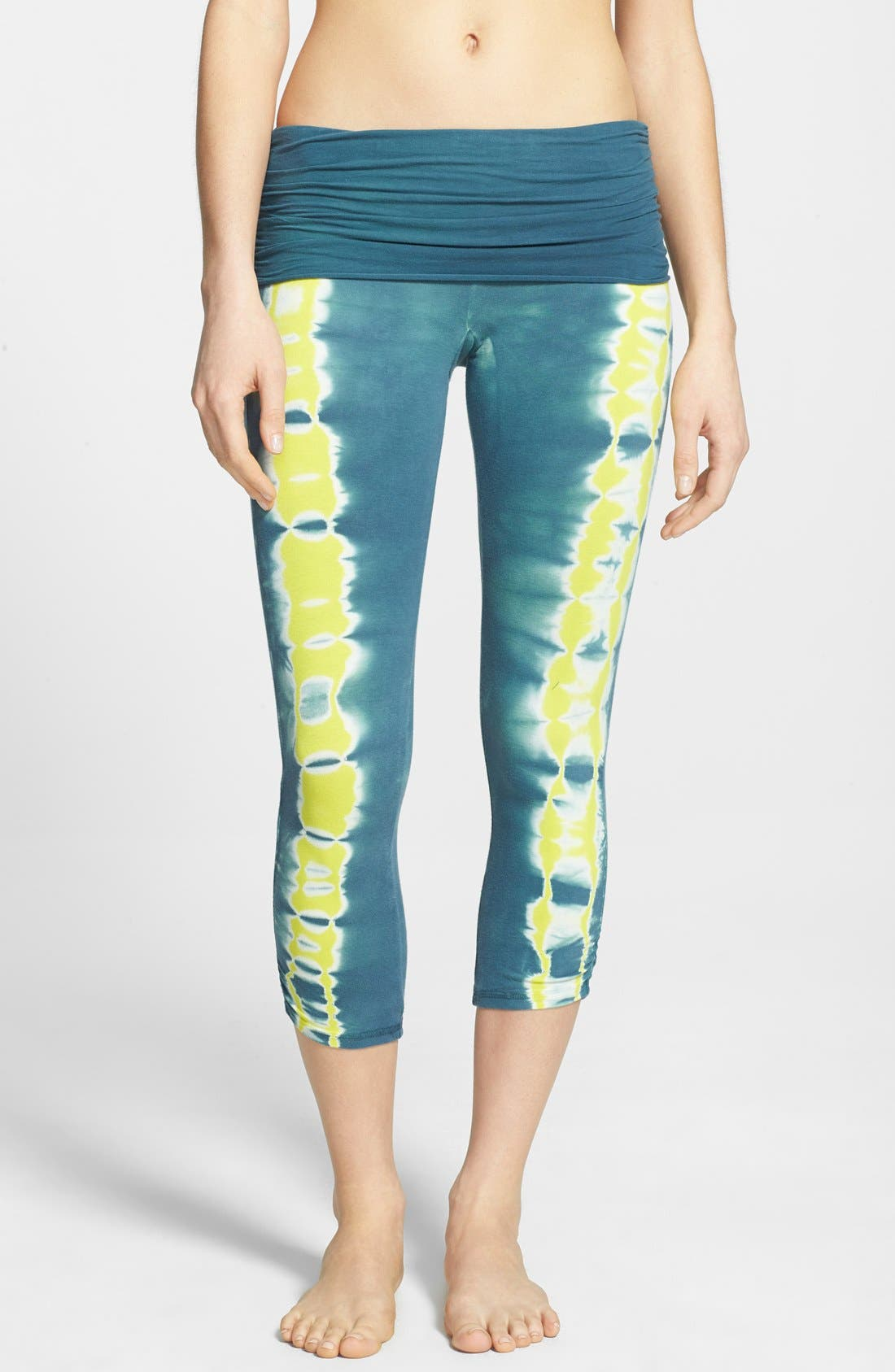 Alternate Image 1 Selected - Omgirl 'Free Stripe Ahimsa' Organic Cotton Capri Leggings