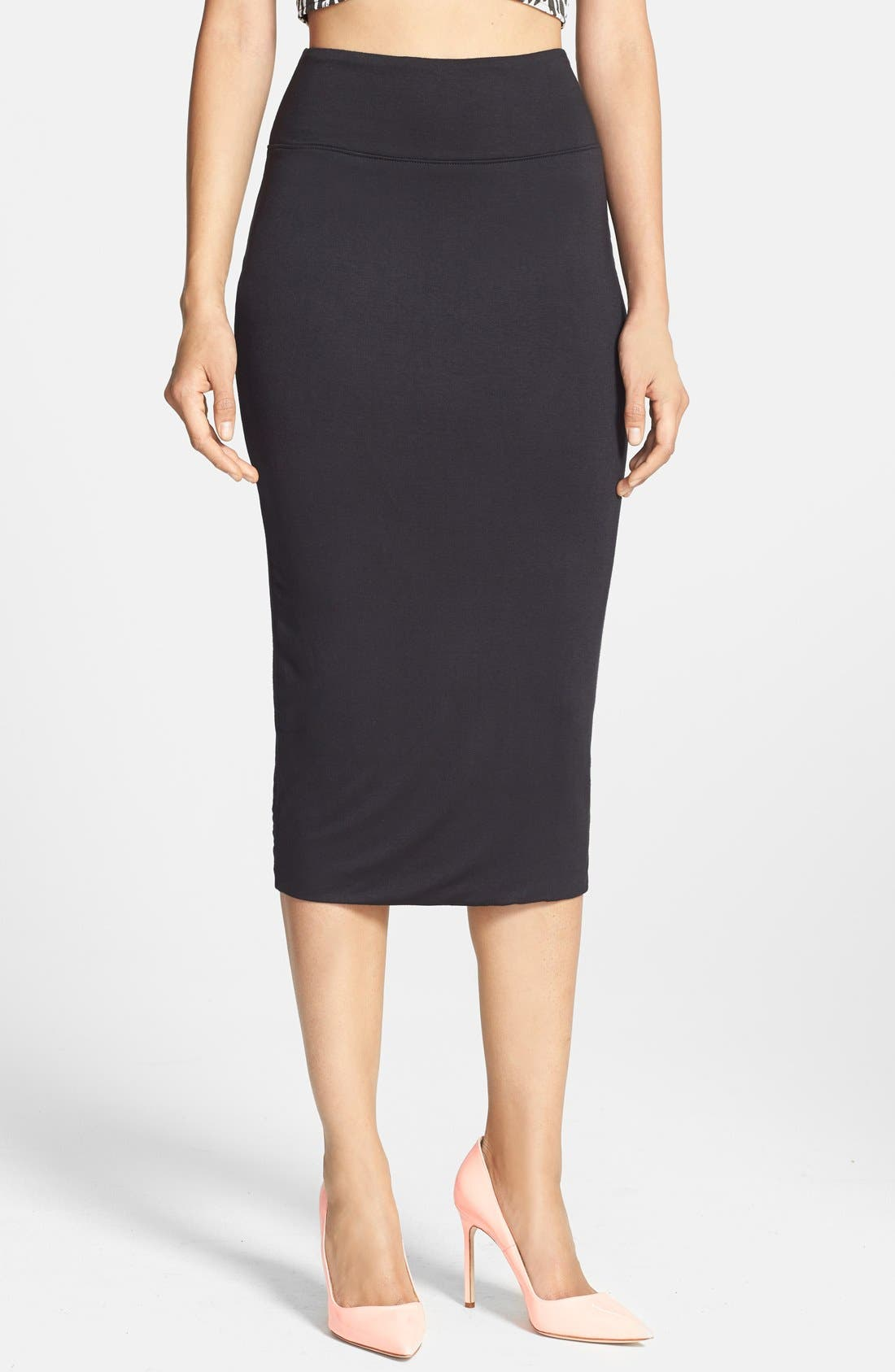 Main Image - Leith High Waist Tube Midi Skirt
