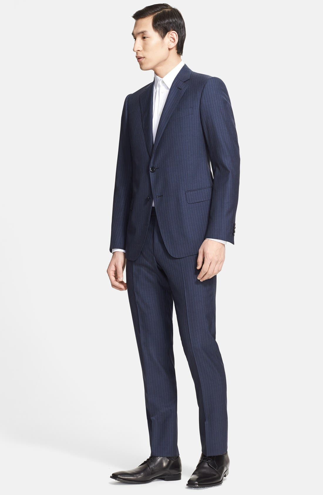 Alternate Image 1 Selected - Armani Collezioni 'Sartorial' Pinstripe Wool Blend Suit