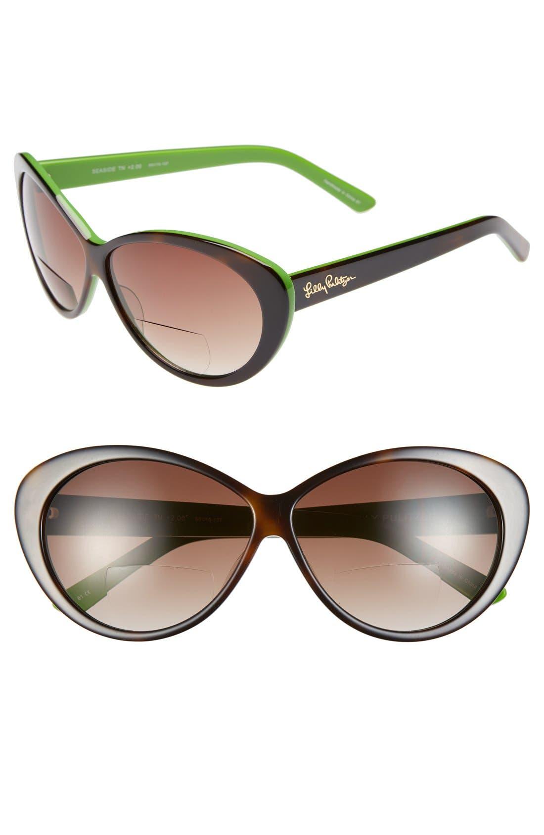 Main Image - Lilly Pulitzer® 'Seaside' 60mm Reading Sunglasses