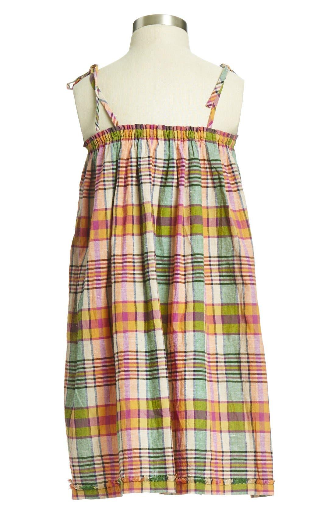 Alternate Image 2  - Peek 'Collette' Plaid Cotton Dress (Toddler Girls, Little Girls & Big Girls)