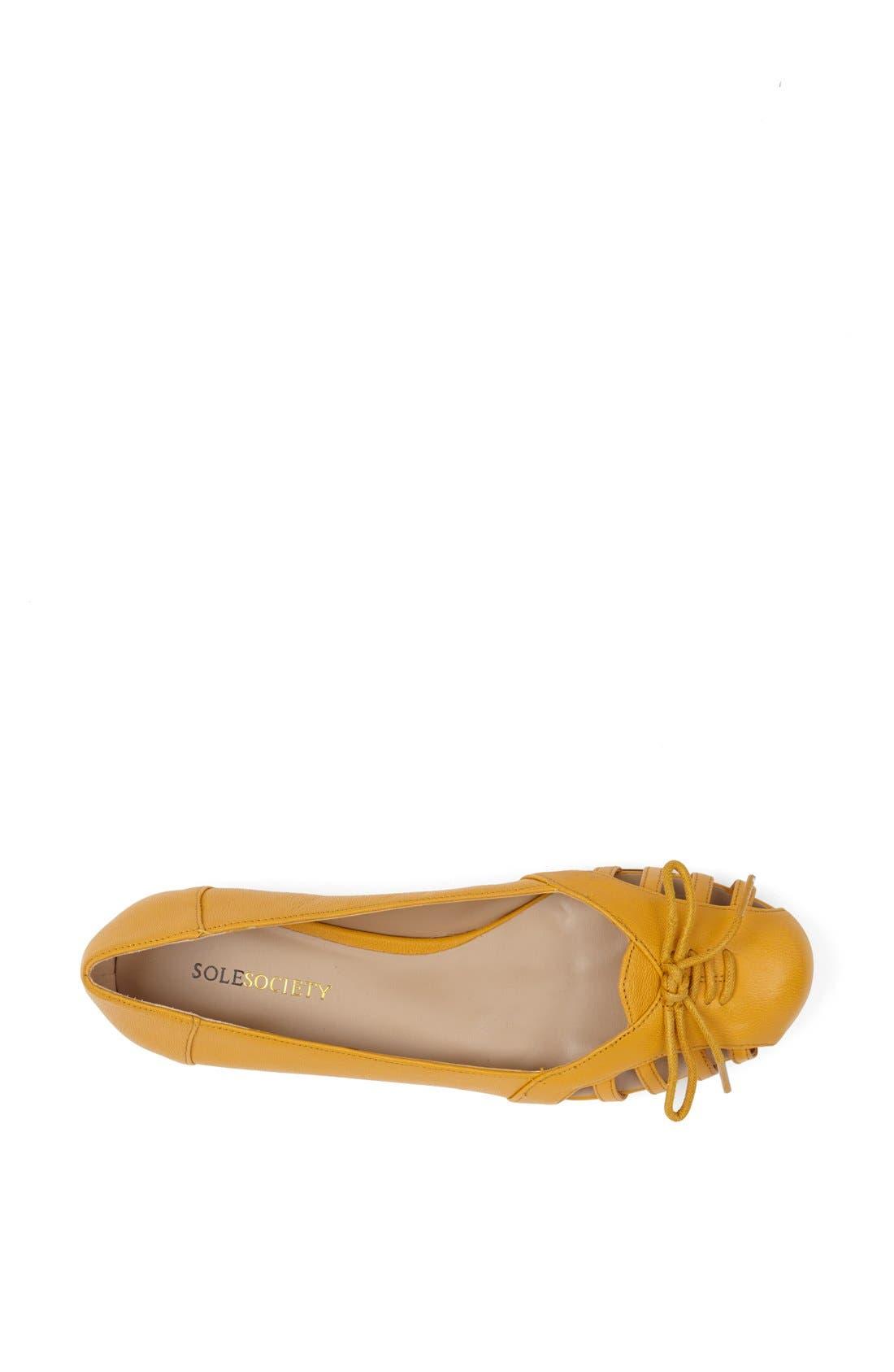 Alternate Image 3  - Sole Society 'Meredithe' Leather Flat