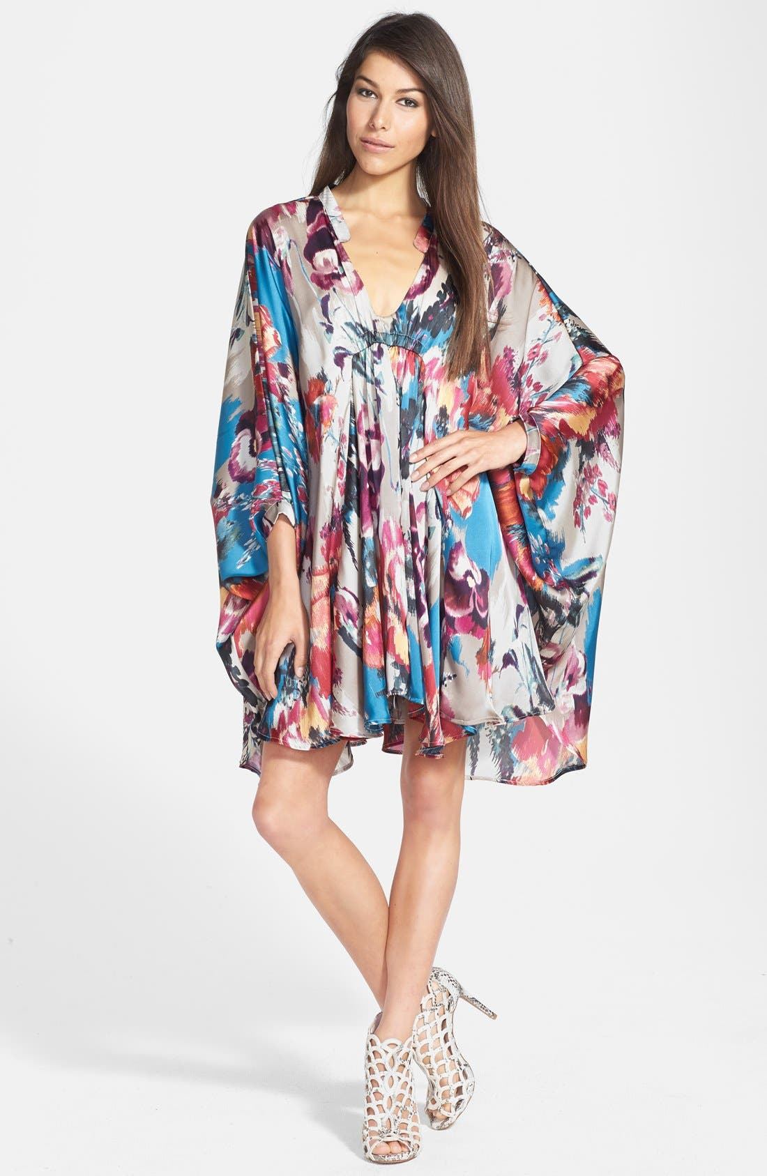 Alternate Image 1 Selected - Maisie 'Lenore' Floral Print Kimono Dress
