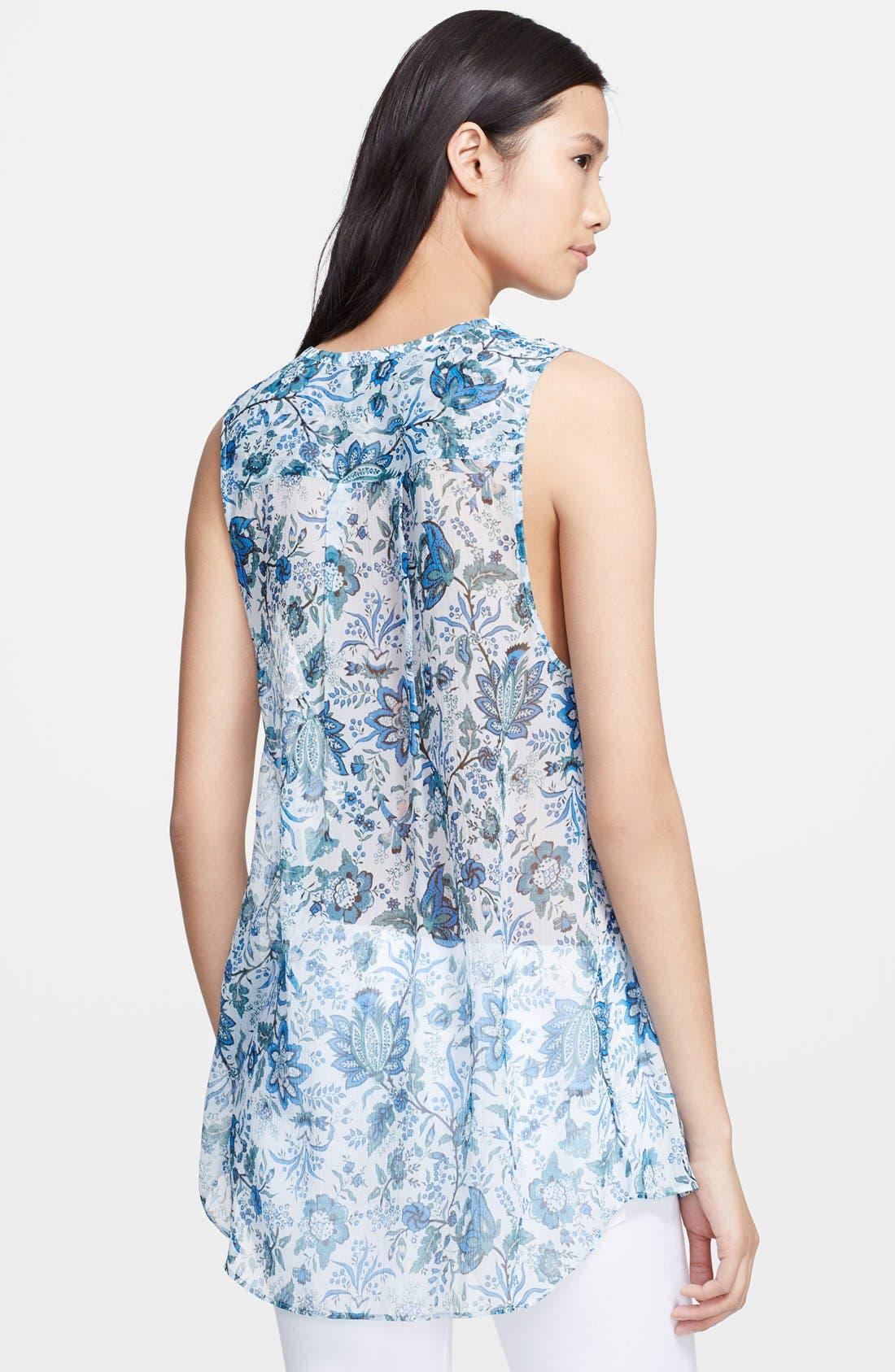 Alternate Image 2  - Rachel Zoe 'Magnolia' Lace-Up Print Silk Tunic