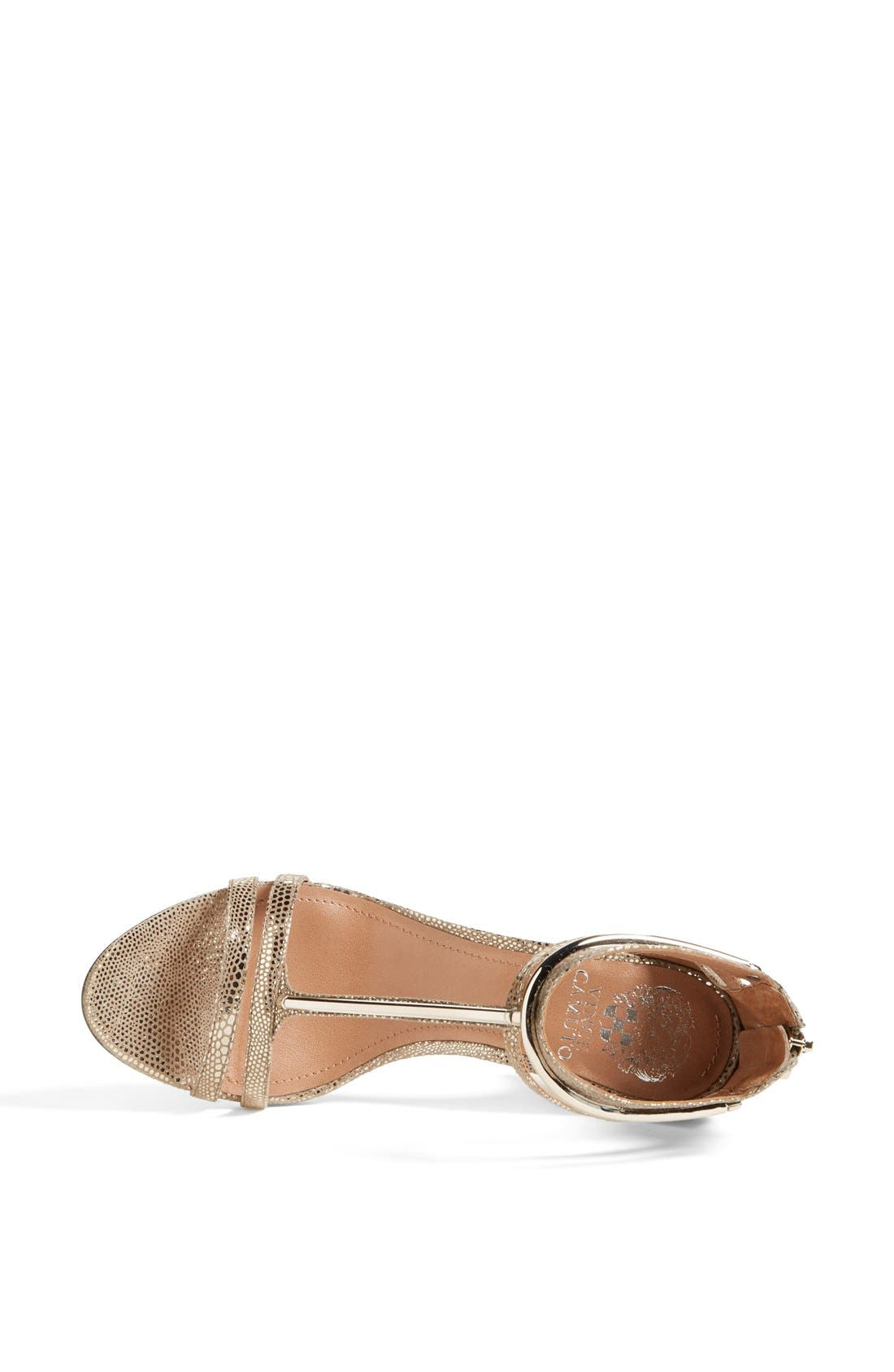Alternate Image 3  - Vince Camuto 'Mitzy' Metallic T-Strap Sandal (Women)