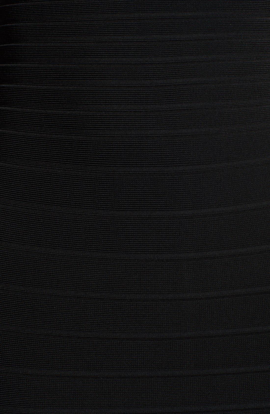 Alternate Image 3  - Herve Leger Strapless Sheath Dress