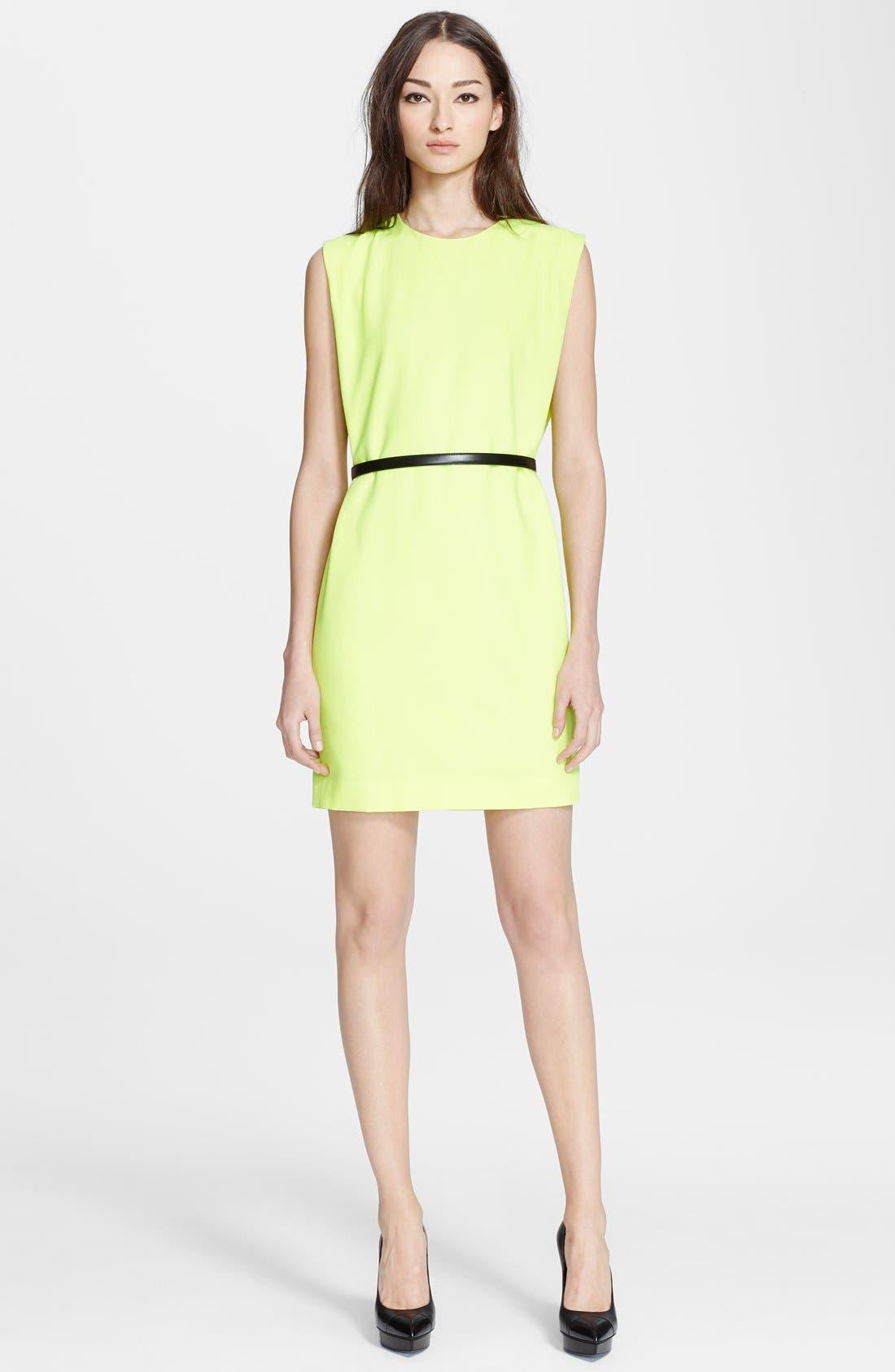 Main Image - Saint Laurent Sleeveless Wool Crepe Shift Dress