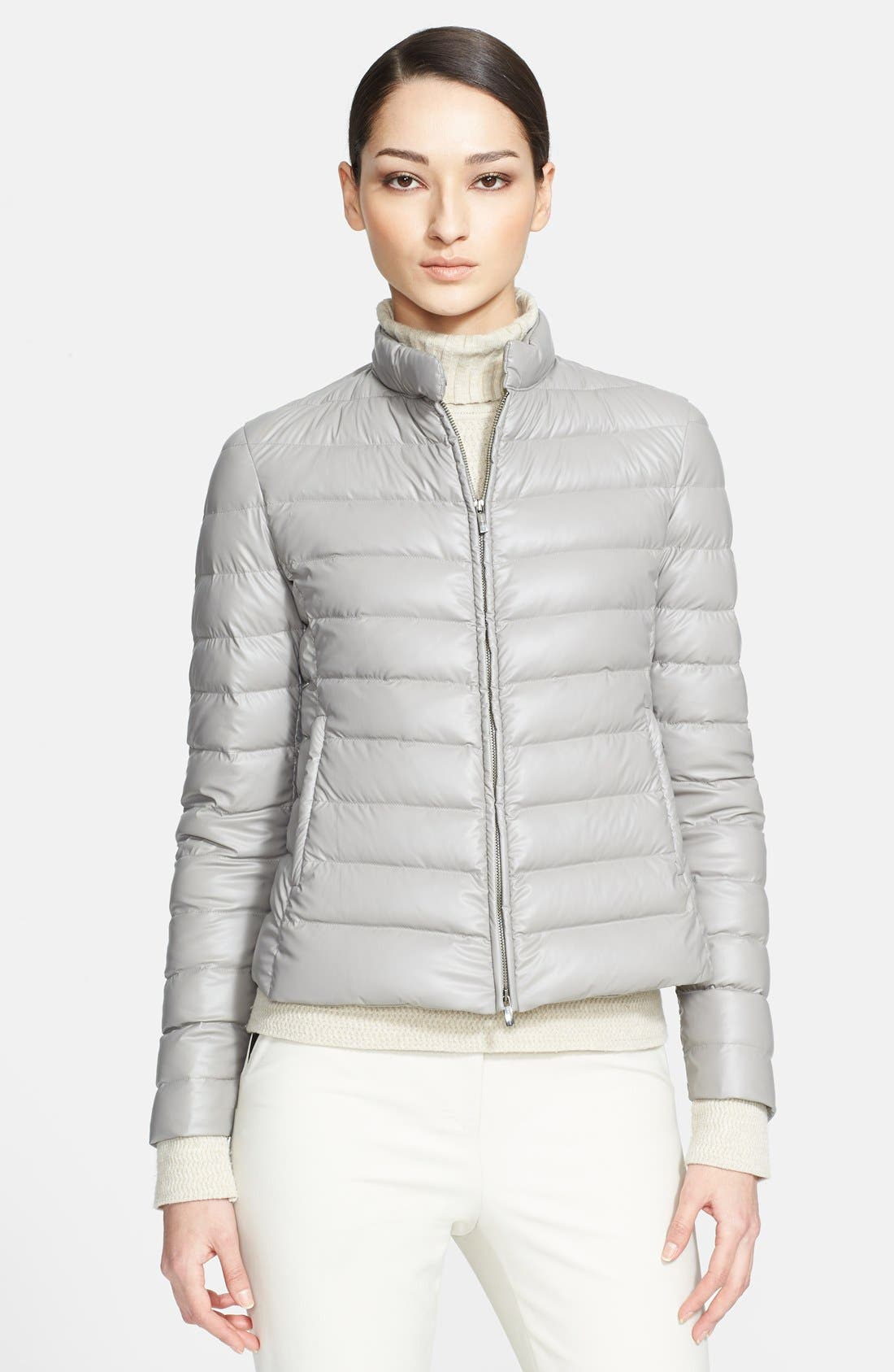 Alternate Image 1 Selected - Armani Collezioni Quilted Down Puffer Coat