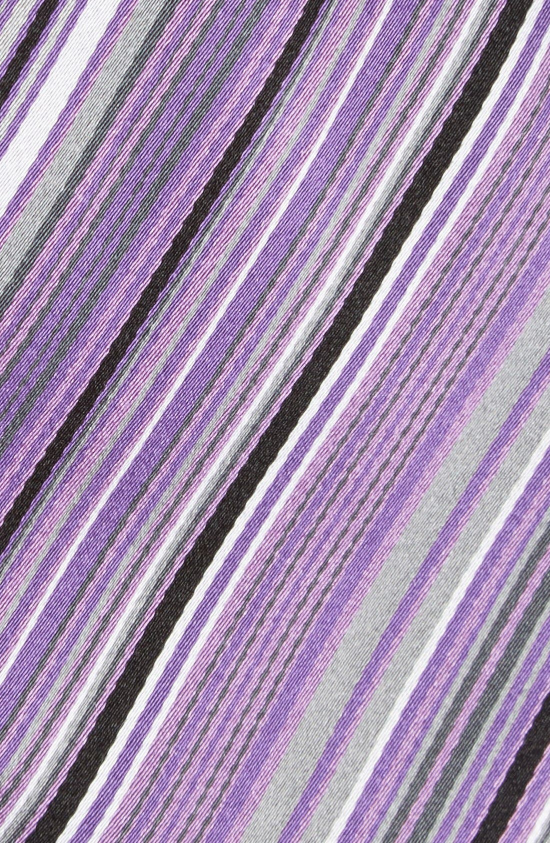 Alternate Image 2  - Bugatchi Stripe Silk Tie