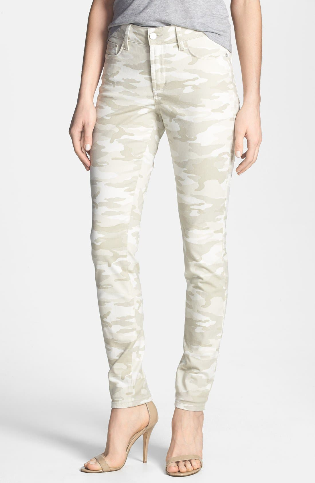 Main Image - NYDJ 'Ami' Camo Stretch Super Skinny Jeans (Regular & Petite)