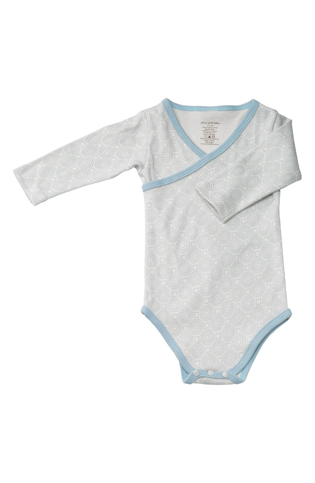 Alternate Image 1 Selected - Petunia Pickle Bottom Organic Cotton Long Sleeve Bodysuit (Baby)