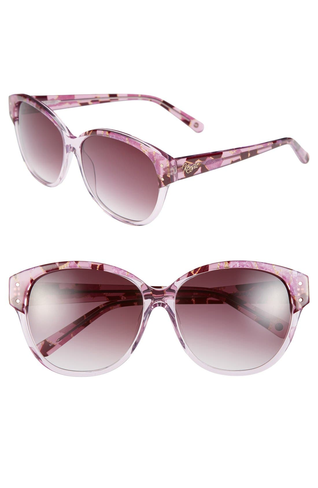 Main Image - kensie 'Kelly' 57mm Sunglasses