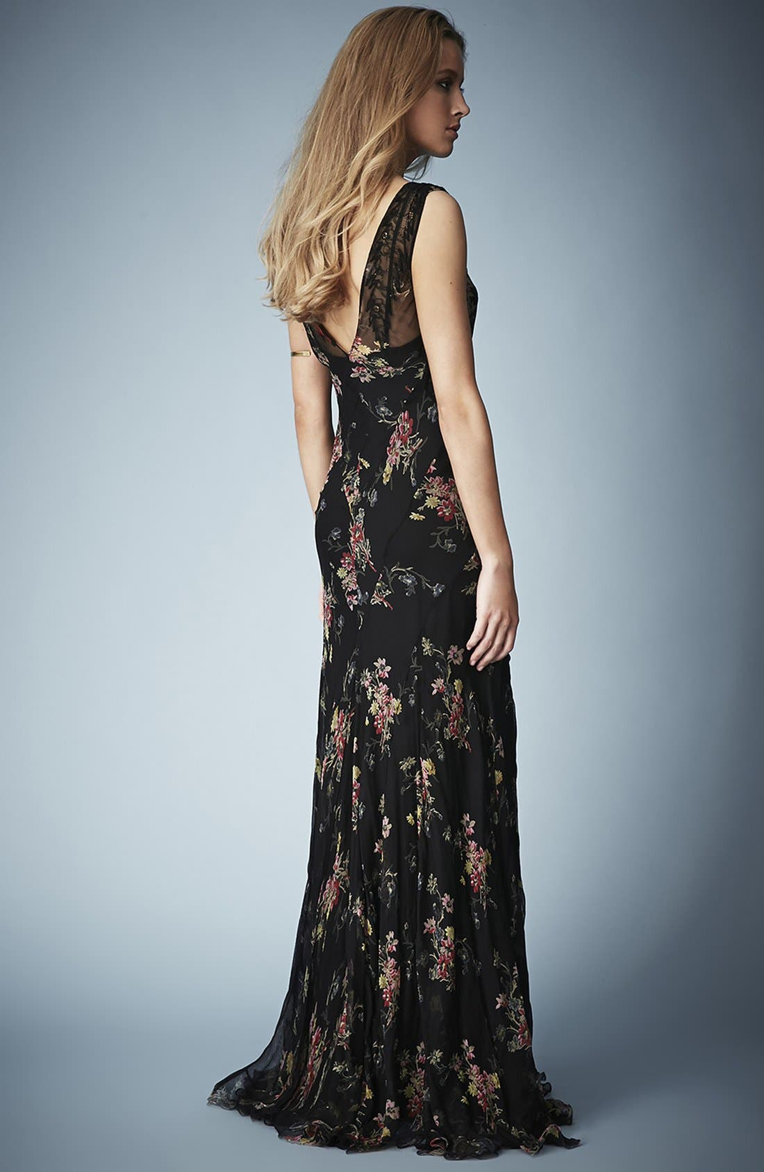 Alternate Image 2  - Kate Moss for Topshop Floral Chiffon Maxi Dress