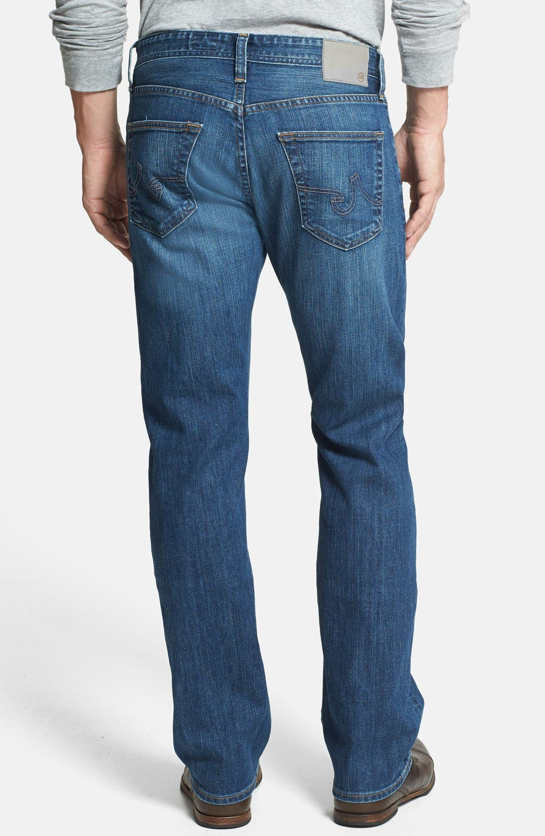 Alternate Image 2  - AG 'Protégé' Straight Leg Jeans (6 Year Gilder) (Online Only)