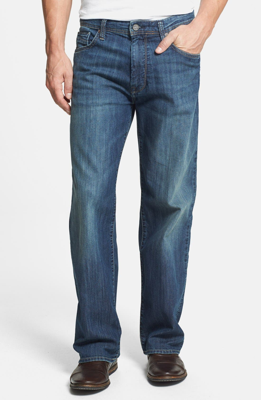 Alternate Image 1 Selected - Mavi Jeans 'Max' Relaxed Fit Jeans (Mid Railtown) (Online Only)