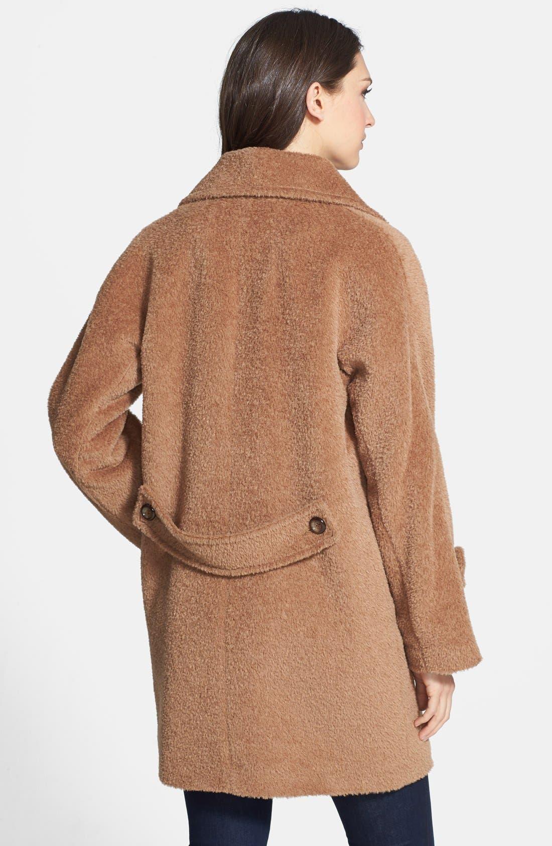 Alternate Image 2  - Trina Turk 'Nancy' Double Breasted Wool & Alpaca Blend Coat