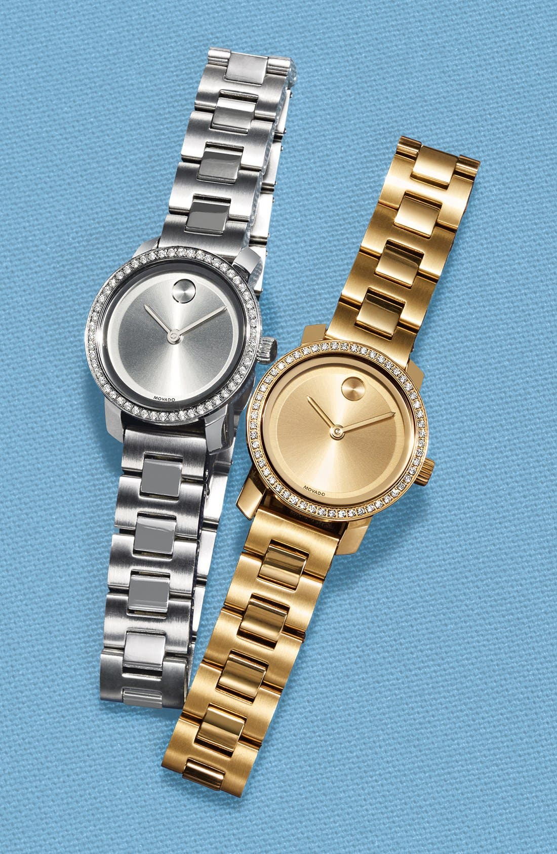 Alternate Image 4  - Movado 'Bold' Diamond Bezel Bracelet Watch, 25mm