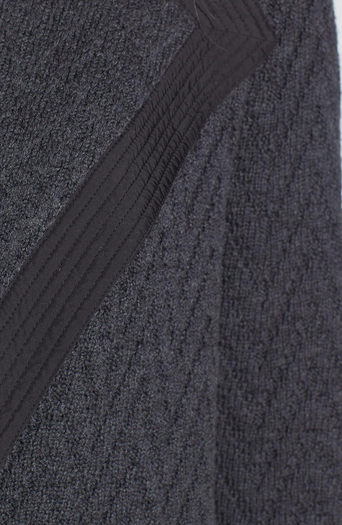 Alternate Image 3  - Lafayette 148 New York Woven Back Zigzag Merino Wool Cardigan (Regular & Petite)