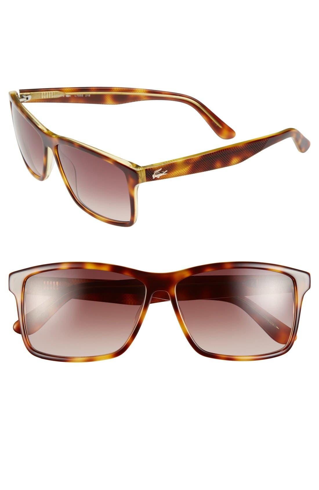 Main Image - Lacoste 57mm Sunglasses