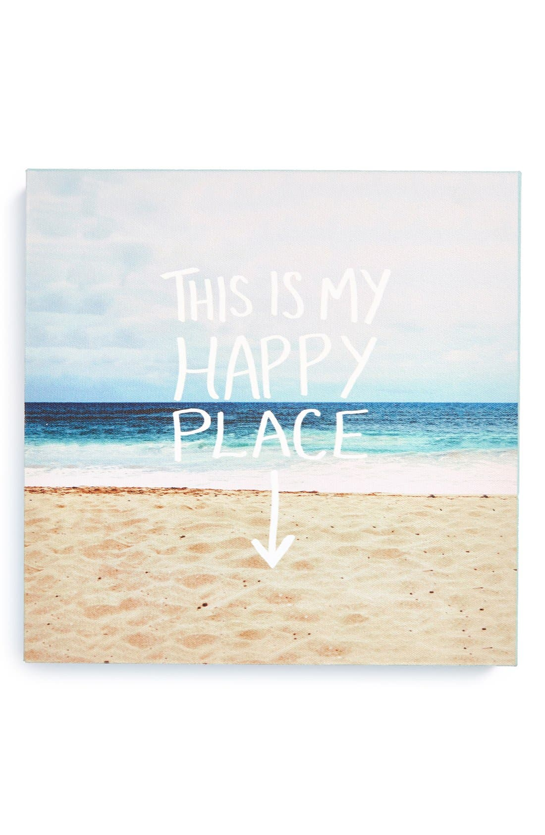 Alternate Image 1 Selected - DENY Designs 'Leah Flores - This Is My Happy Place' Canvas Wall Art