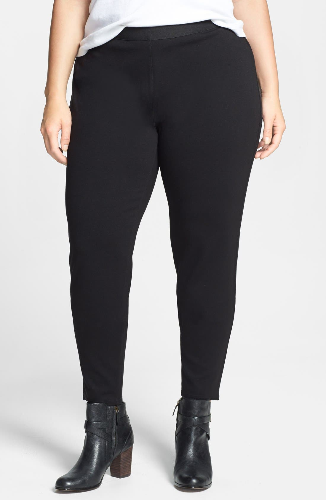 Alternate Image 1 Selected - Eileen Fisher Leggings (Plus Size) (Online Only)