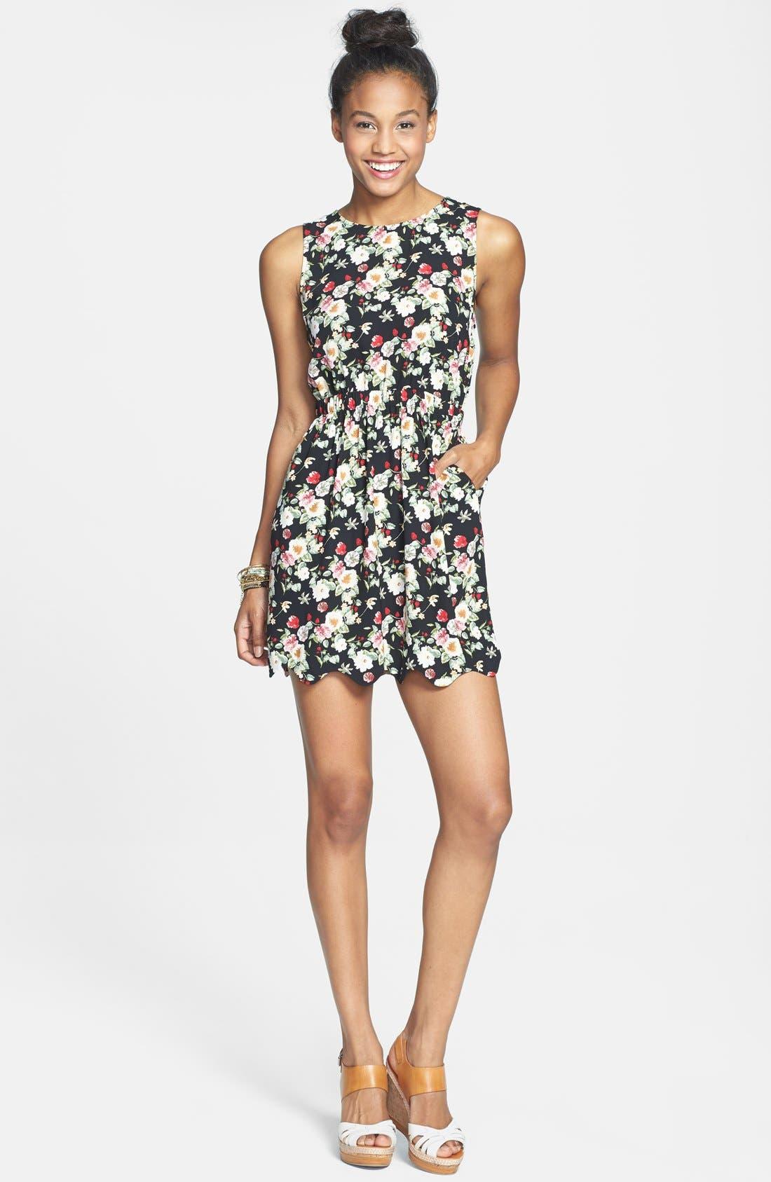 Alternate Image 1 Selected - BCNU Back Cutout Dress (Juniors)