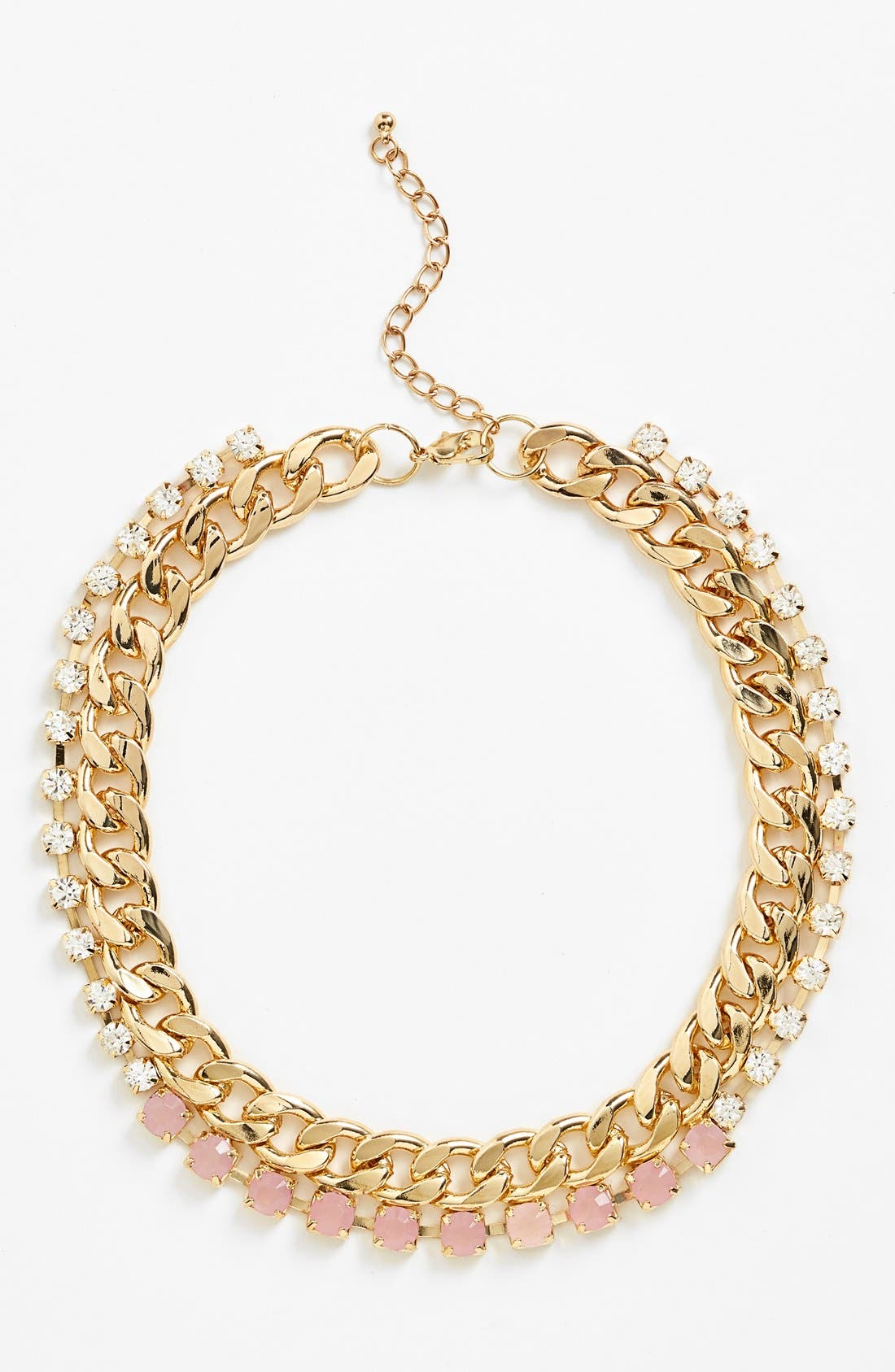 Main Image - BP. Embellished Chain Collar Necklace (Juniors) (Online Only)
