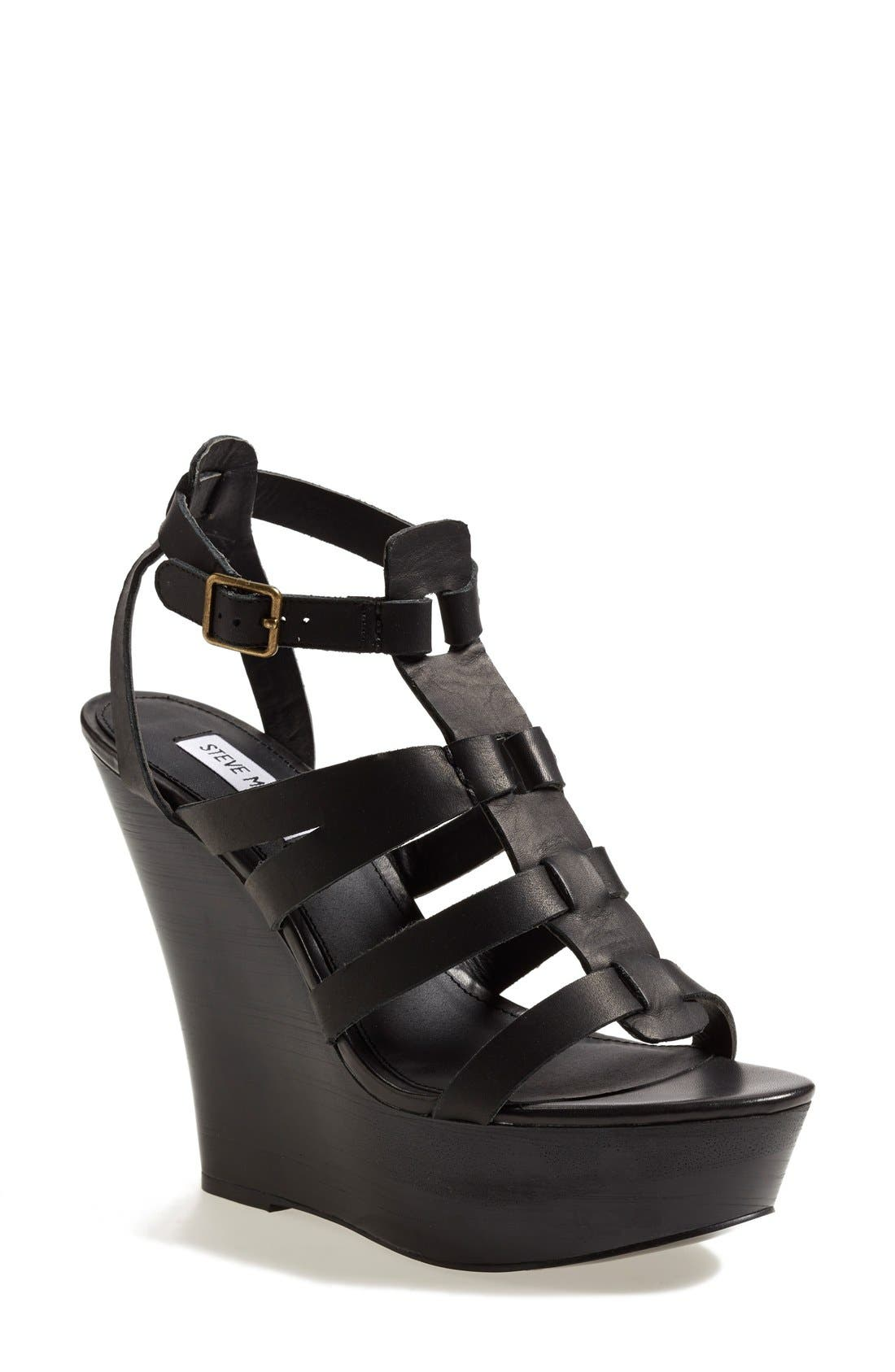Alternate Image 1 Selected - Steve Madden 'Winslet' Wooden Wedge Sandal