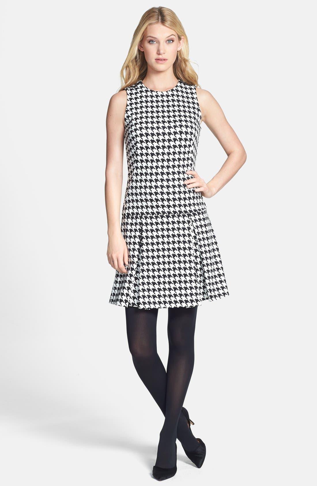 Alternate Image 4  - MICHAEL Michael Kors Zip Shoulder Print Drop Waist Dress (Online Only)