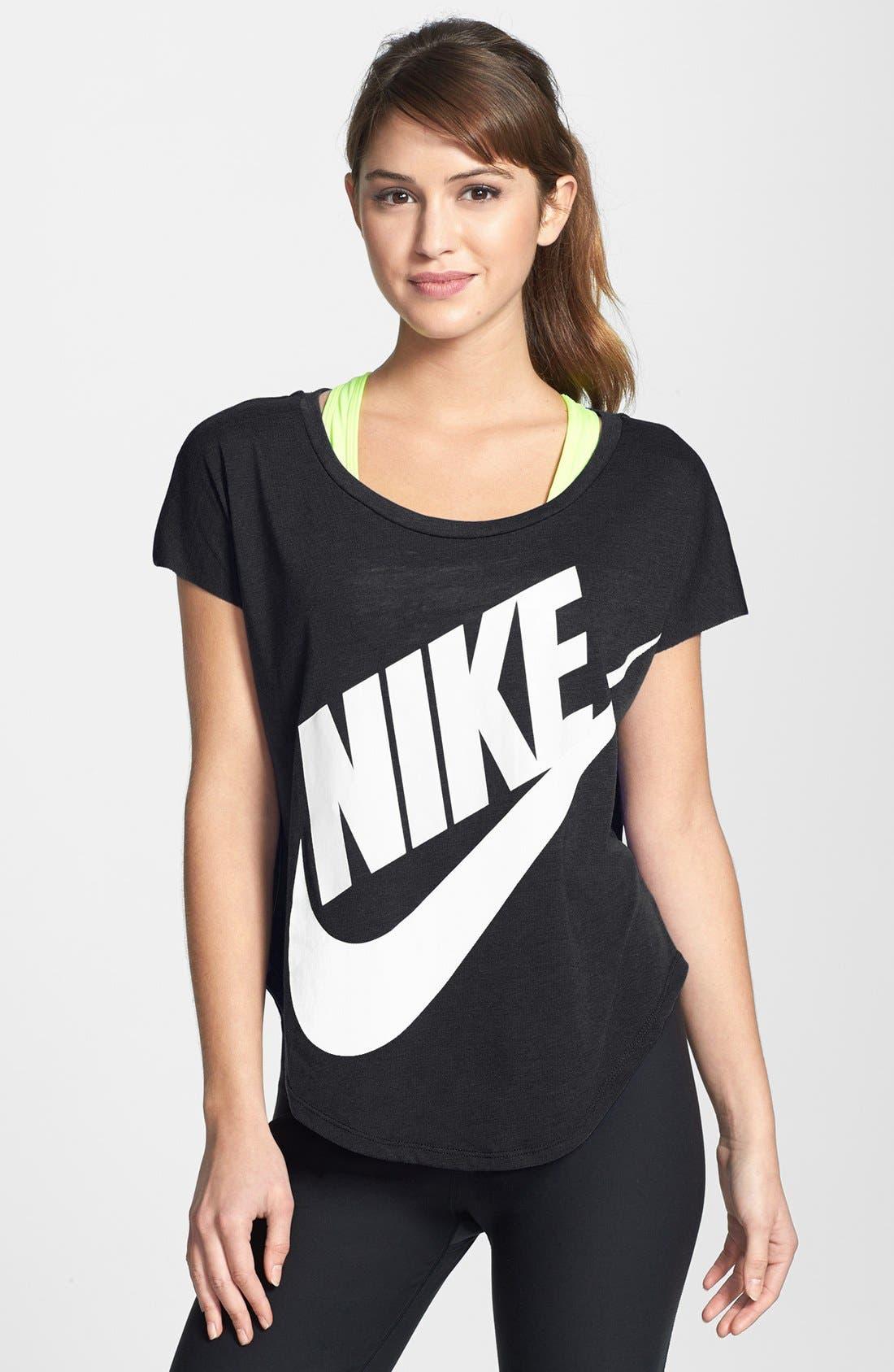 Alternate Image 1  - Nike 'Signal' Short Sleeve Logo Tee