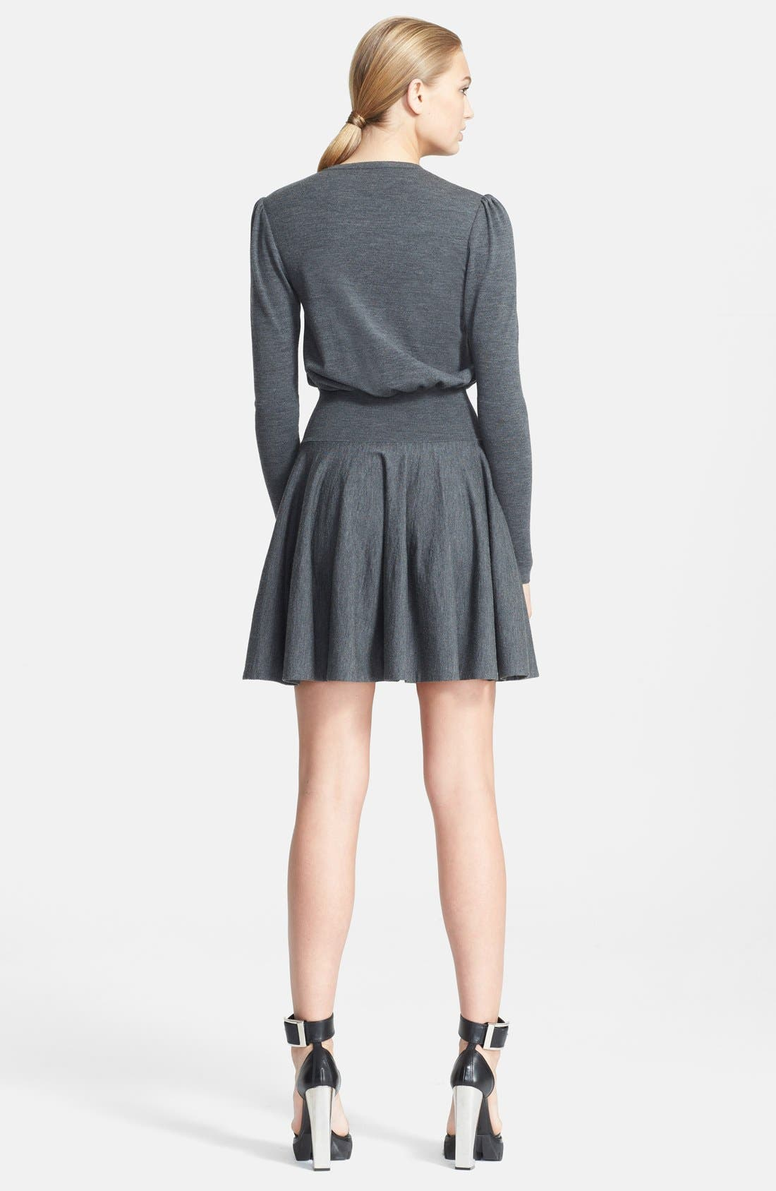 Alternate Image 2  - Alexander McQueen Fit & Flare Knit Dress